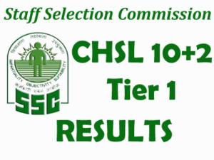 SSC CHSL 2016 Result