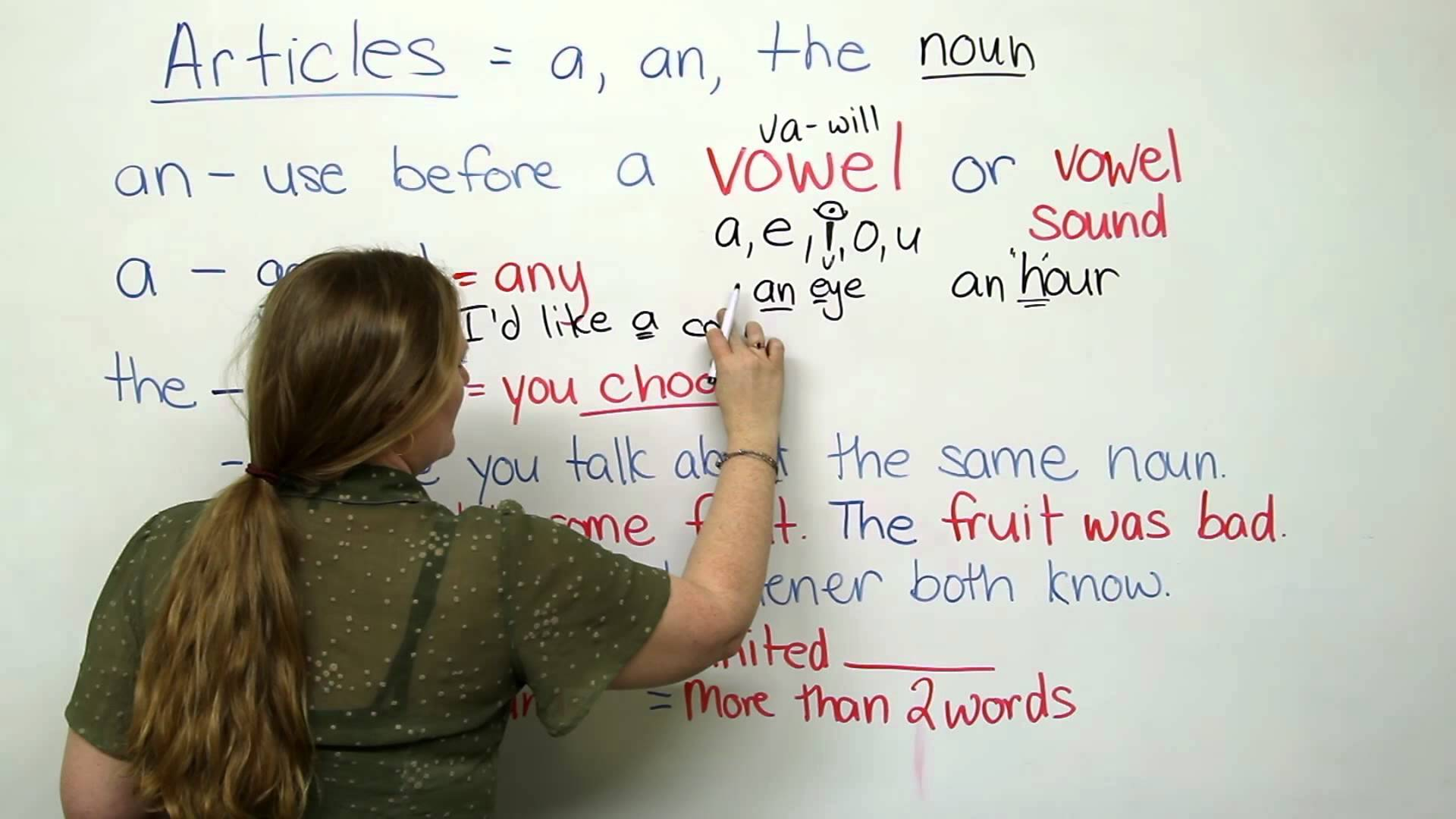 Indefinite article in English: rules of use, examples 30