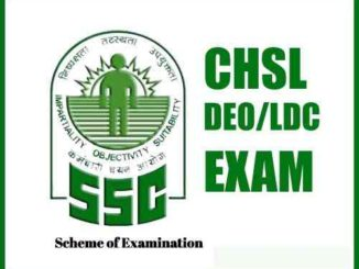 SSC CHSL Scheme of Examination