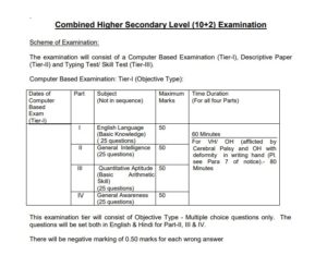 SSC CHSL 2018 Exam Scheme of Examination [PDF] - CAREERADVICE4U