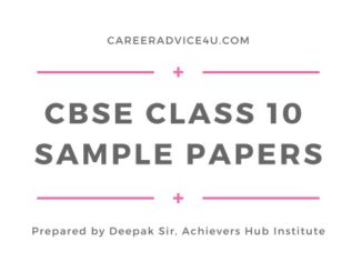 CBSE Sample Papers Class 10