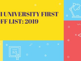 Delhi University First Cutoff